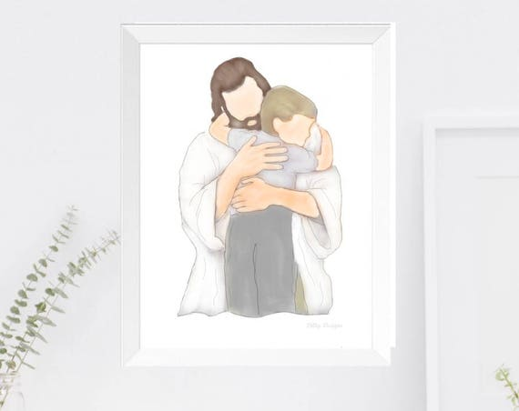 Loss of Child, Christ Art, Christ, Child Loss, Funeral, Funeral Art, Funeral Gift, Funeral Service, Child Loss Gift, Sympathy Art, Printable