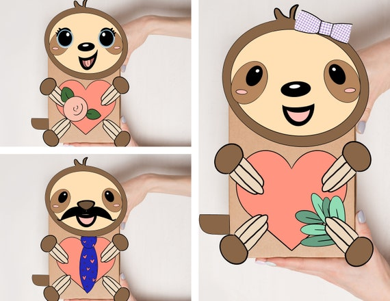Sloth Birthday Decor, Create Your Own Sloth, Sloth Activity, Sloth Bday Activity, Animal Birthday, Animal Birthday Decor, Sloth Printables