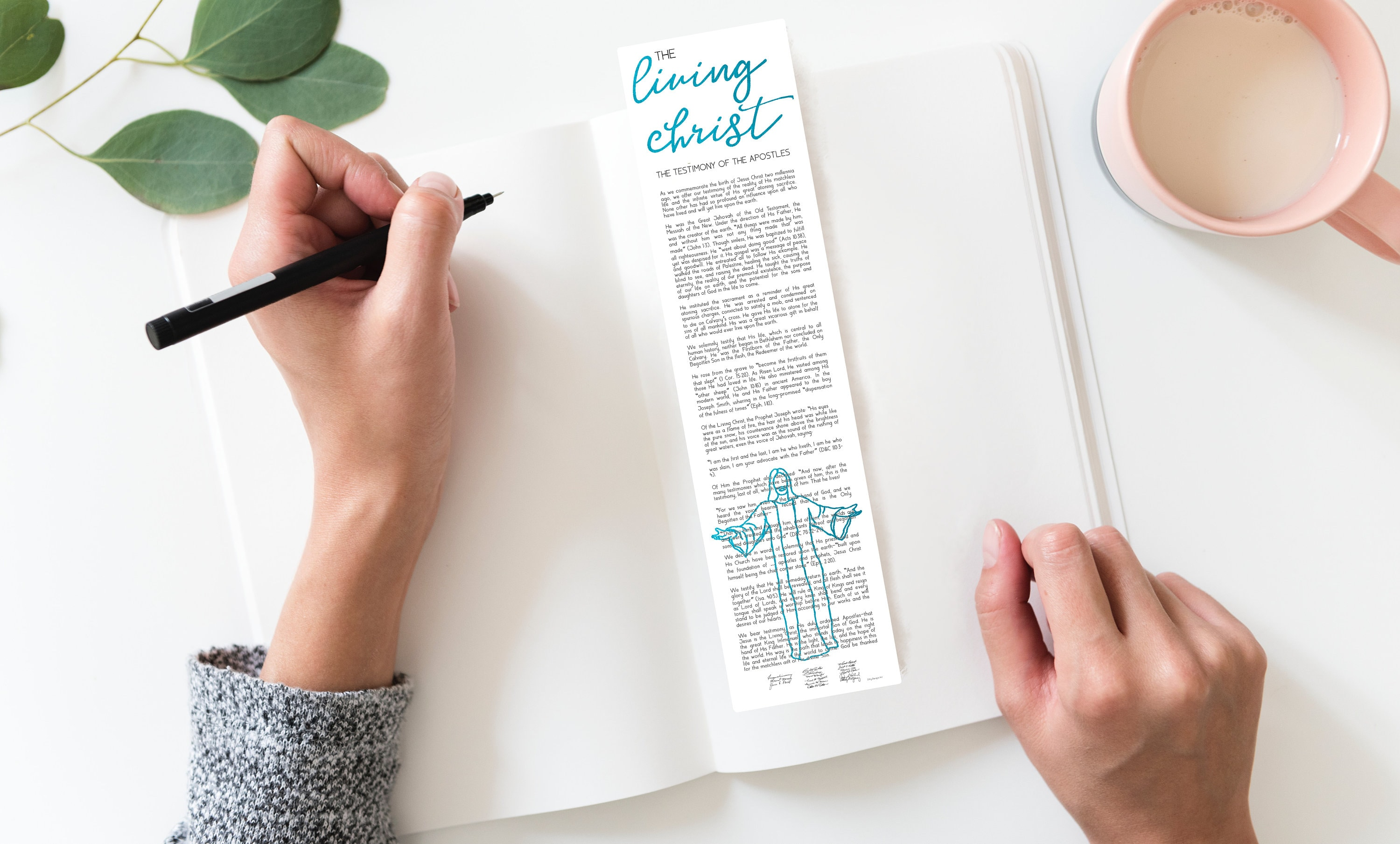 photograph relating to Who I Am in Christ Printable Bookmark identified as Dwelling Christ, Bookmark Printable Bookmark, The Residing