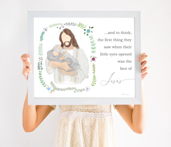Miscarriage Gift, Miscarriage, Twin loss, Loss of Babies, Angel Babies, Infant Loss, And to think, little eyes opened, face of Jesus, lds