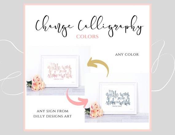 Change Any Calligraphy Color From Dilly Designs Art