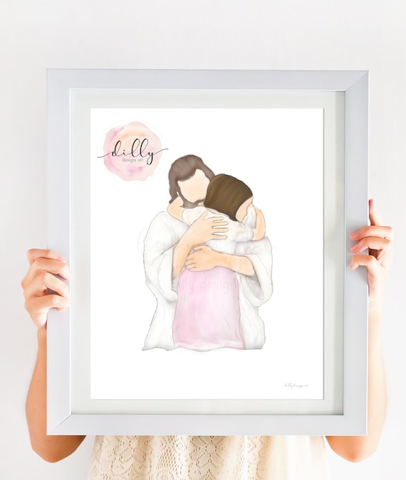 Christian Gift, Communion Gift, Baptism Gift, Jesus Christ Art, Jesus Painting, Christ Painting, Digital Painting, Gift For Gifl, Christian