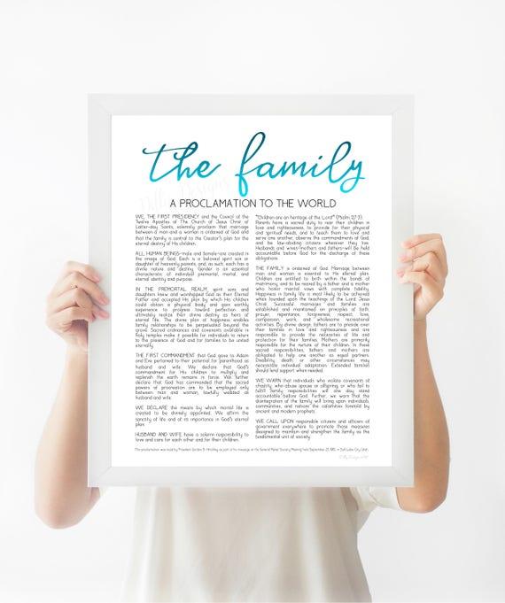 Family Proclamation, LDS Proclamation, Proclamation, Family, The Family, The Family Proclamation, Modern Proclamation, Proclamation Sign