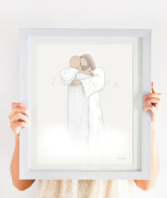 Loss of Loved One, Christ, Heaven, Funeral Art, Funeral Gift, Funeral Service, Loss of Dad, Loss of Husband, Condolence Gift, Cancer Loss