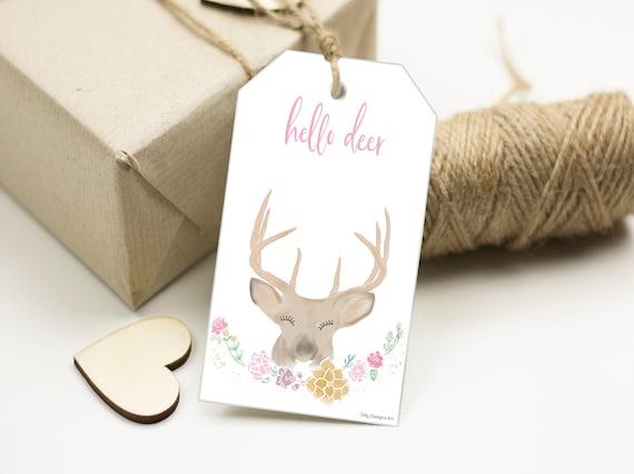 Hello Deer, Hello Deer Gift Tags, Hello Deer Tag, Valentines Tags, Gift Tags, Printable Tags, Printable Tag, Tag Printable, Hello Dear, Tag