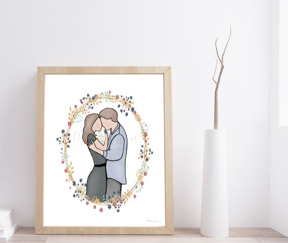 Memorial Gift, Baby Memorial, Infant Memorial, Angel Baby Memorial, Angel Baby Art, Grieving Parents, Parents and Baby, Couple and Baby, Art