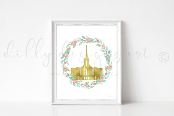 Jordan River Temple, Jordan River Utah, Temple, Temple Art, Floral Wreath, Latter Day Saints, LDS Temple, Jordan River, Latter Day Temples