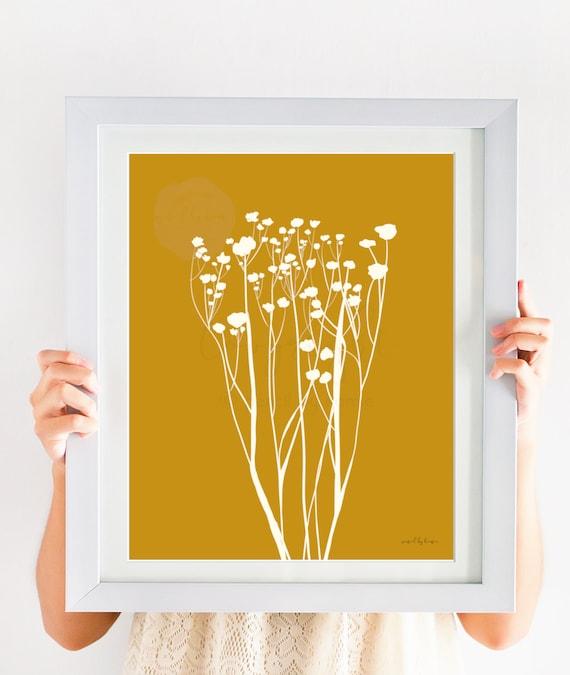 Botanical Artwork, Gold Botanical, Printable Art, Floral Print, Floral Printable, Gold Floral, Home Decor, Home Wall Art, Home Printables