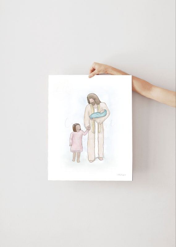 Jesus With Girl, Jesus With Baby, Todder and Baby, Children In Heaven, Children With Jesus, Christ With Children, Jesus Painting, Jesus Art