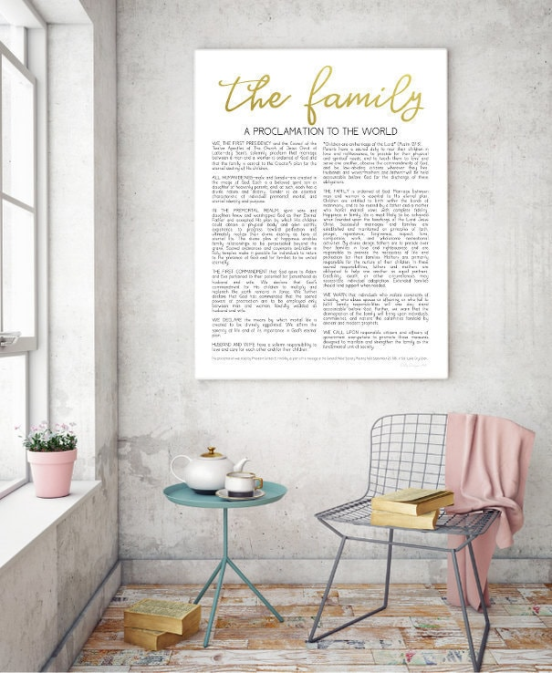 the family proclamation living christ printable proclamation