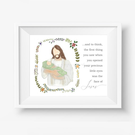 Baby Memorial, Memorial Gift, Infant Memorial, Memorial Printable, Infant Loss Printable, Baby Loss Art, Infant Loss Art, Jesus Christ Art