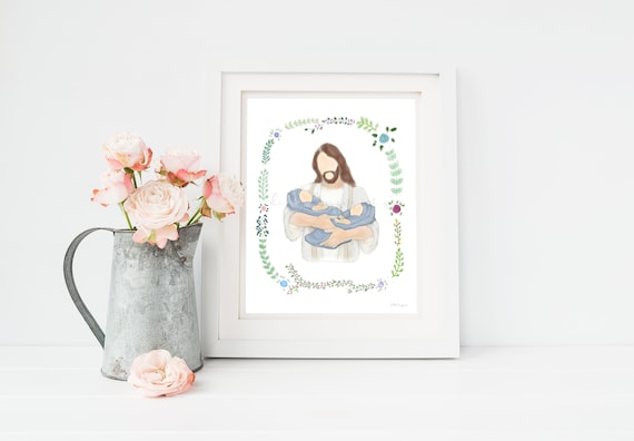 Twin Loss Gift, Comforting Gift, Jesus Printable, Christ Printable, Funeral Art, Memorial Art, Twin Memorial, Twin Babies, Memorial Gift