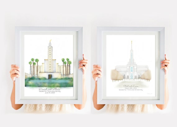 Personalized Gift Any Temple LDS Temple LDS Wall Art LDS | Etsy