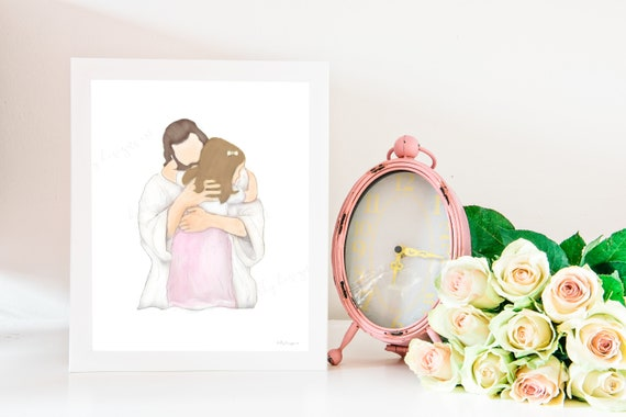 LDS Baptism Gift, LDS Baptism, LDS, Baptism, Lds Art, Primary, Lds Primary, Baptism Gift, Christ, Christ Art, Christ and Child, Primary Art