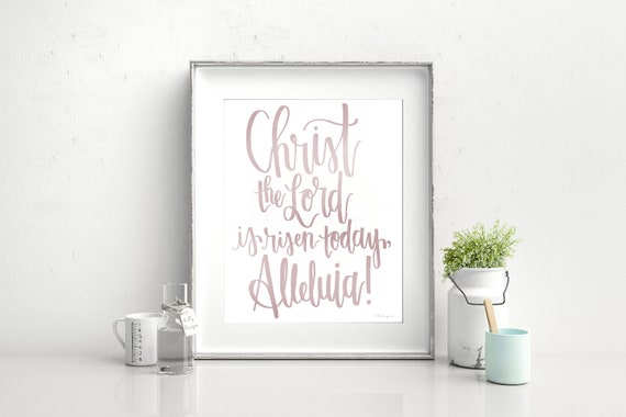 Christ Is Risen, Calligraphy, Easter Printable, Easter Decor, He Is Risen, Christ The Lord, Jesus Christ Art, Calligraphy Art, Easter Art