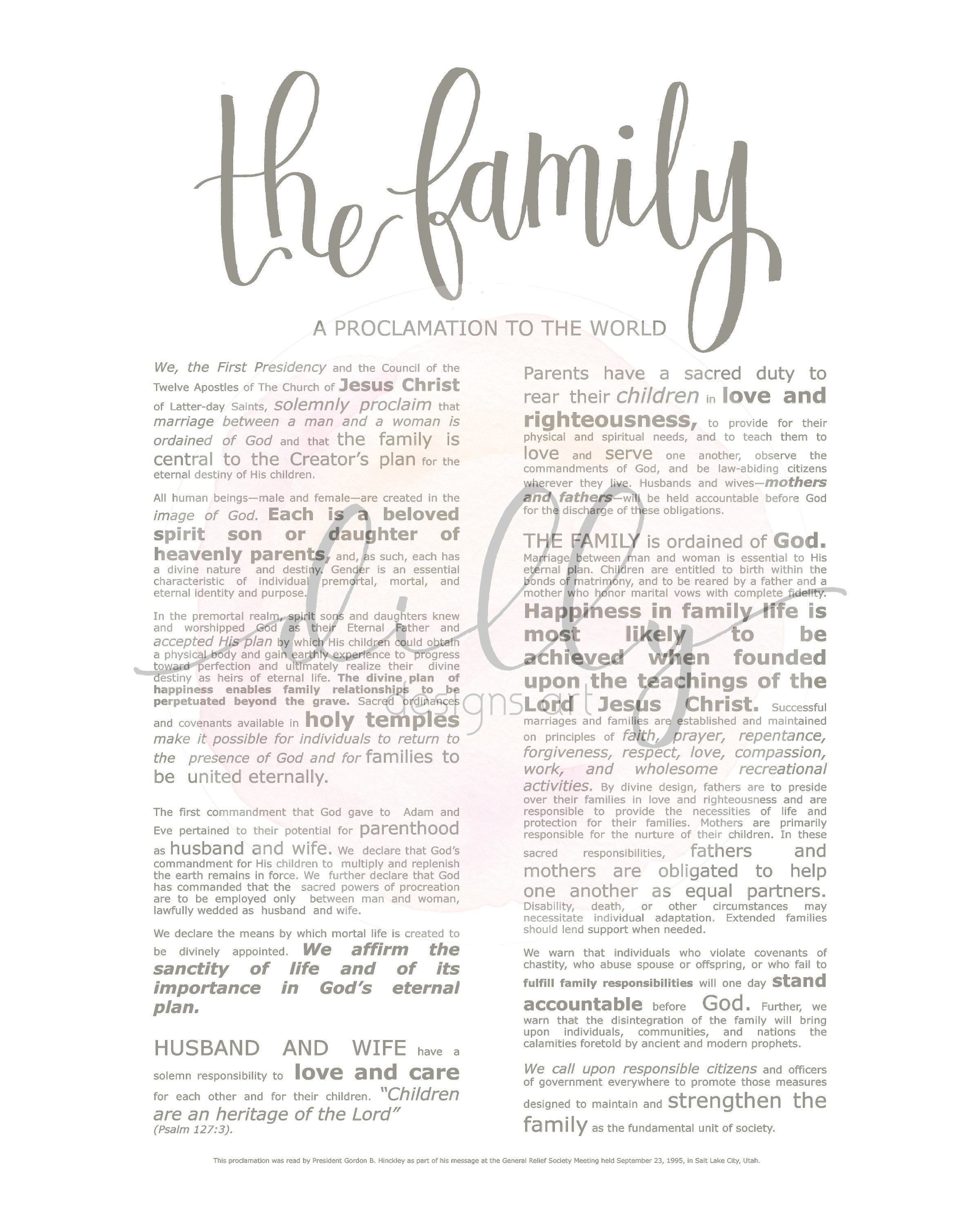 photo relating to The Family a Proclamation to the World Printable referred to as Loved ones Proclamation, Impressive Emphasised, Impressive LDS Printable