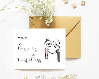 Greeting, Stick Figure Card, Greeting Card, Printable Card, Anniversary Card, Card for Husband, I Love You Card, Printable Cards, Digital