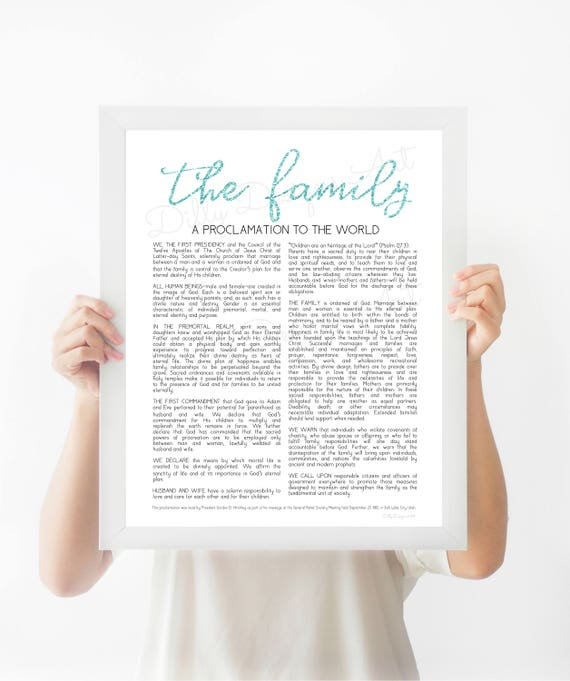 Family Proclamation, The Family Proclamation, Proclamation, LDS Proclamation, Family, The Family, Modern Proclamation, Proclamation Sign