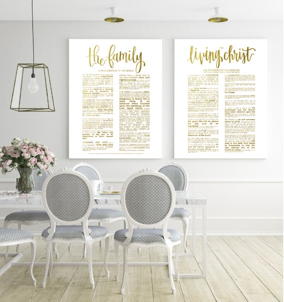 Family Proclamation, Living Christ, Bundle, Modern Emphasized, Modern  Church Printable, Family Proc, Engineer Printable, Gold Foil Prints