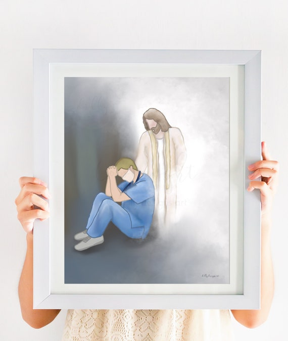 Support Gift, Male Doctor, Male Nurse, Thank You Front Line Workers, Care Staff, Thank You Helpers, Helping The Helpers, Jesus Christ Art