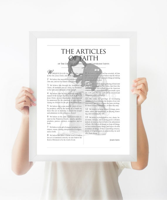 Articles Of Faith, 13 Articles of Faith, LDS, LDS Sign, Articles, Faith, LDS Art, Lds Printables, Lds Printable, The Articles of Faith, Art