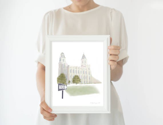 Manti Temple, Manti Temple Art, Manti Temple Print, Manti LDS Temple, LDS Manti Temple, Manti, Manti Utah, LDS Temple Wall Art, Printable