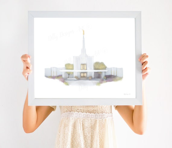 Denver Temple, Denver Colorado Temple, LDS Temple Art, Denver Temple Art, Temple Wall Art, LDS Wall Art, Temple Sealing Gift, Wedding Gift
