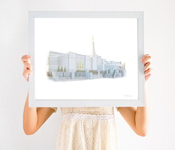 Edmonton Alberta Temple, Edmonton Alberta, Edmonton Temple, Edmonton, Latter Day Saints, Alberta Temple, Alberta Temple Art, Latter Day Art
