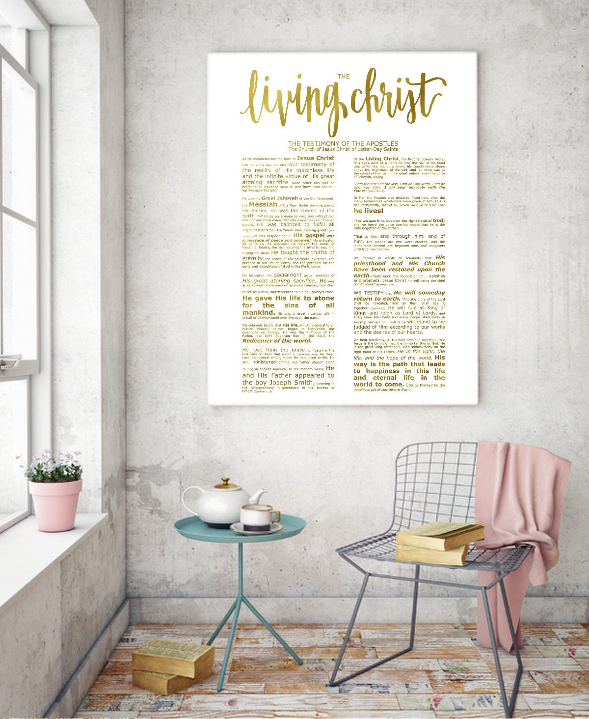graphic regarding The Living Christ Printable identify The Dwelling Christ, Ground breaking Emphasised, Innovative LDS Printable