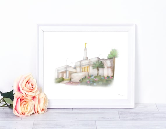 Costa Rica Temple, Temple Art, Temple Wall Art, Temple Printables, Tempe Decor, Costa Rica Art, Church of Jesus Christ of Latter Day Saints