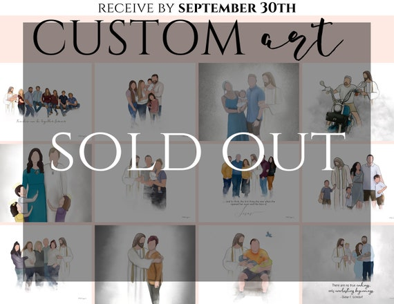 SEPTEMBER Pre Order Custom Art. (0 Spot Left) Set quantity to the number of people you'd like drawn. (Example: 2 people + Christ = 45 USD)