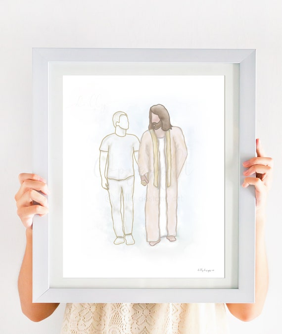 Child Loss, Teenager, Jesus Art, Christ Art, Jesus Painting, Christ Painting, Digital, Boy, Gift for Grieving, Sympathy Gift, Bereavement