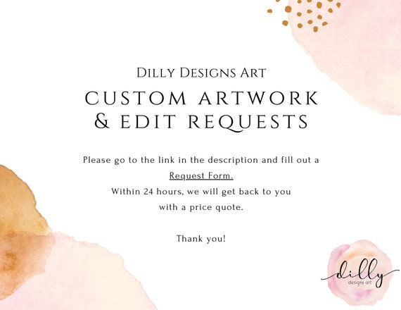 Custom Artwork, Edit Existing Art, Custom Family, Custom Gift, Edit Dilly Designs Artwork, Personalized Gift, Customized Family, Memorial
