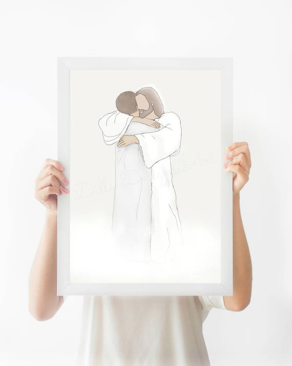 Loss of Loved One, Christ, Heaven, Funeral Art, Funeral Gift, Funeral Service, Loss of Dad, Loss of Husband, Condolence Gift, Sympathy Gift