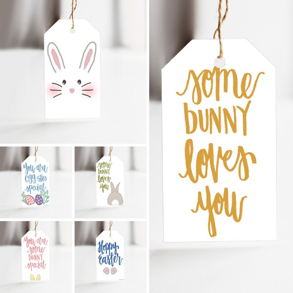 Easter Treat Tags, Easter Bunny Tags, Easter Favor Tags, Easter Goody Bags, Happy Easter Tags, Easter Classroom Tags, Easter Teacher Gifts