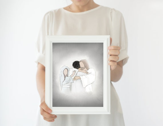 Heavenly Welcome, Christ, Mary, Funeral Art, Funeral Gift, Funeral Service, Heaven, Loss Gift, Condolence Gift, Sympathy, Sympathy Gift, Art
