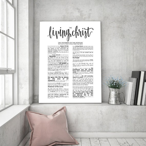 The Living Christ, Modern Emphasized, Modern LDS Printable, Living Christ Printable, Living Christ Sign, LDS Wall Art, Church of Jesus, Art