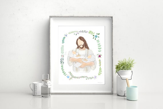 Twin Loss Gift, Memorial Gift, Twin Loss Printable, Twin Loss, Memorial Printable, Grief Gift, Christ Holding Twins, Twin Baby Funeral, Loss