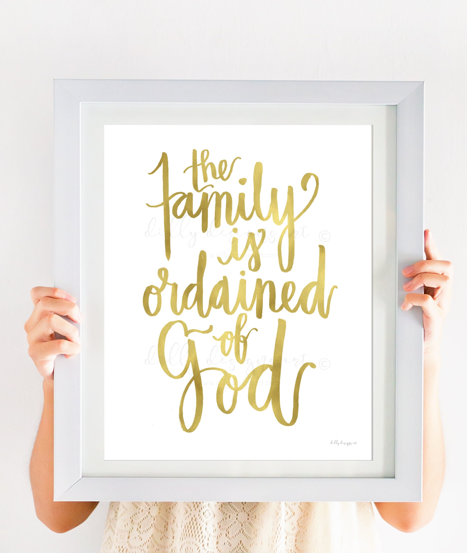 ordained of god calligraphy printable wall art church art