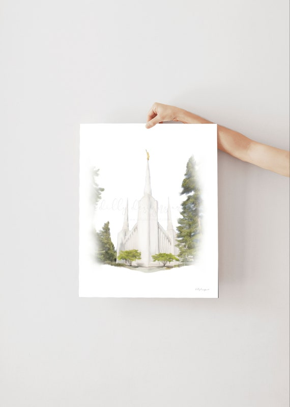 Portland Oregon, Portland Temple, Oregon Temple, Latter Day Saints, Church of Jesus Christ, Temple Artwork, Temple Printables, Temple Art