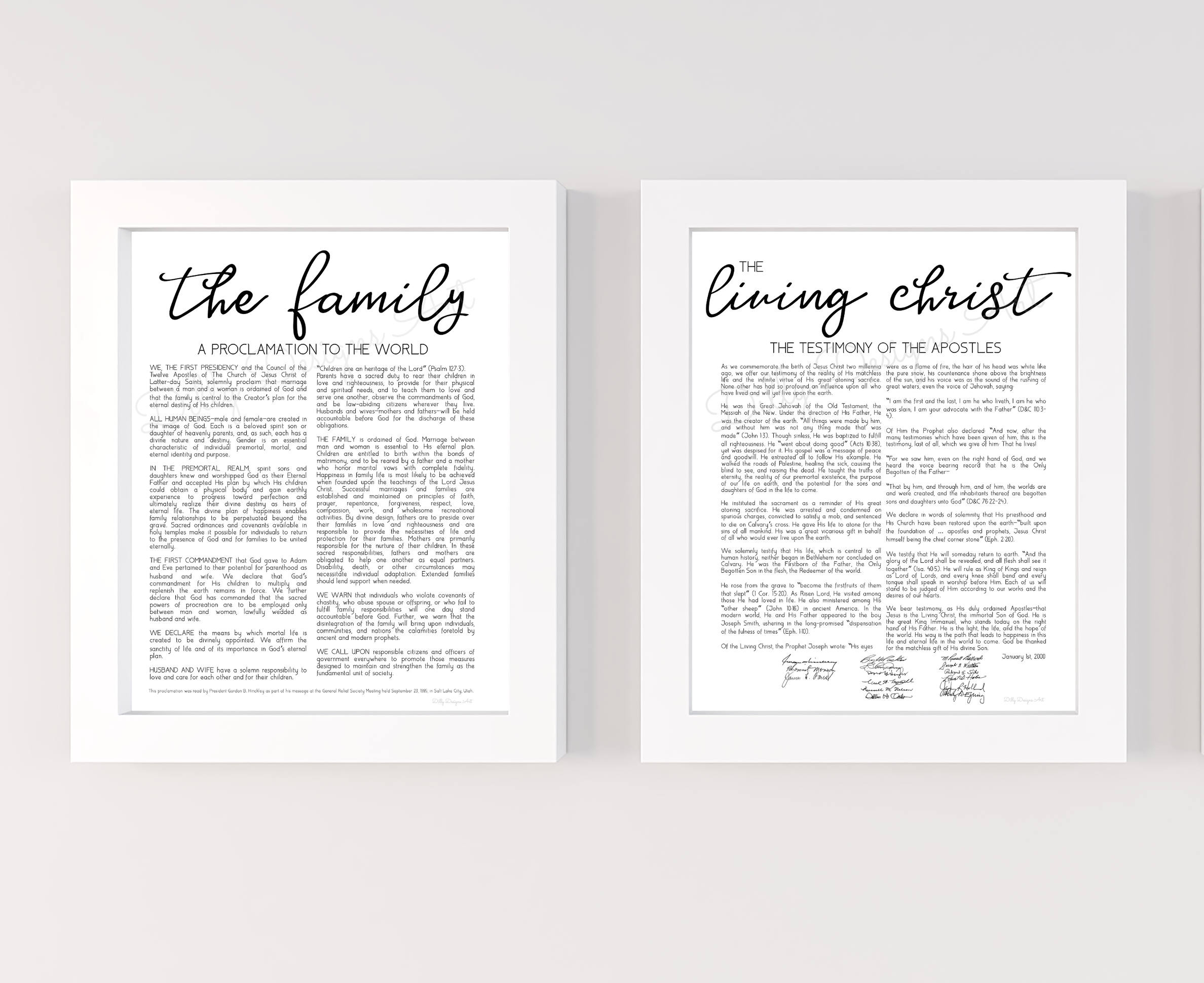 graphic relating to The Living Christ Free Printable known as The Spouse and children Proclamation, The Dwelling Christ, Loved ones