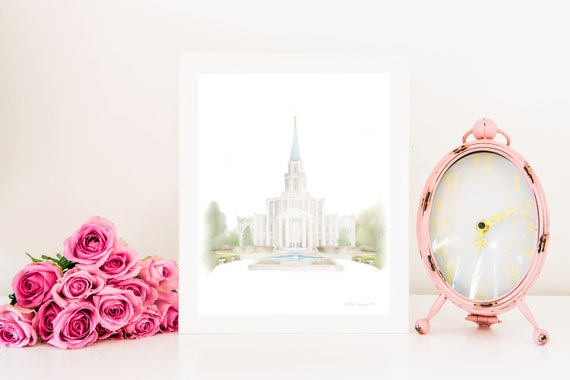 Houston Temple, LDS Houston Temple, Houston Temple Art, Houston Temple Printable, Houston Texas Temple, Temple Art, LDS Temple, Houston, lds