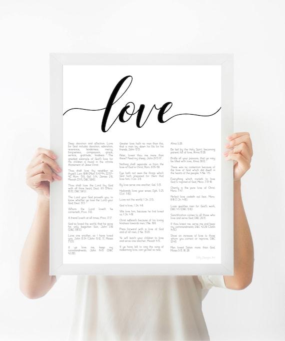Scripture Wall Art, LDS Scriptures, Printable Art, Bible Verse, Book of Mormon, Scripture Art, Scripture, Love Verses, Printable Signs, Art