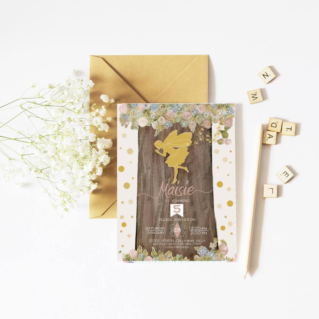Fairy Birthday, Fairy Invitation, Fairy Party, Fairy Invite ...