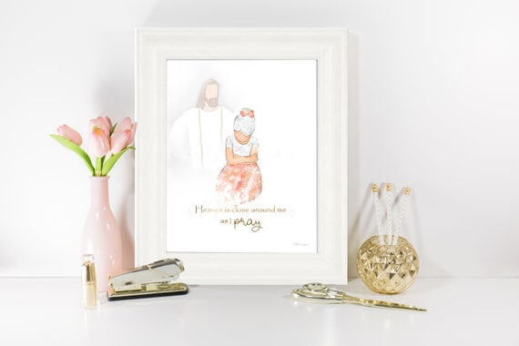 Girl Praying, Prayer Quote, Primary Hymn, Little Girl Praying, Jesus Christ, Prayer Art, Church of Jesus, Primary Art, LDS Printables, Jesus
