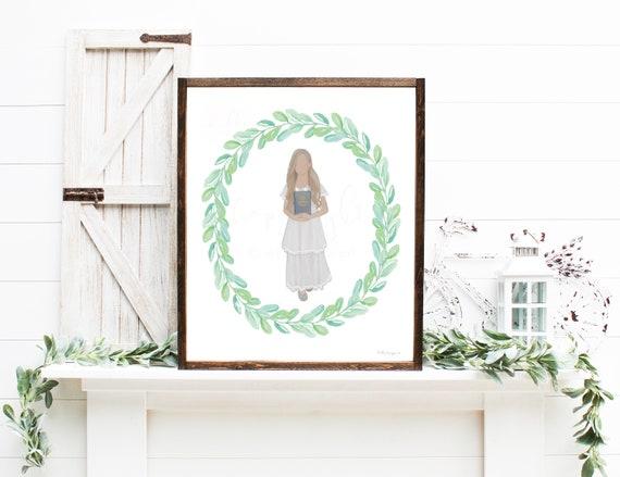 LDS Baptism, I am a Child of God, Lds Baptism Gift, Book of Mormon, LDS Art, Baptism Gift Girl, Church of Jesus Christ, Girl Baptism Gift