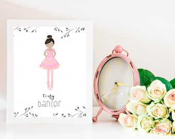 Tiny Dancer, Tiny Dancer Art, Dancer Artwork, Ballet Gift, Dance Gifts, Ballerina, Ballerina Decor, Ballet Decor, Ballet Art, Ballet Dancer