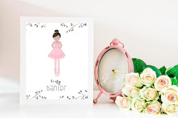 Tiny Dancer, Tiny Dancer Art, Dancer Artwork, Ballet Gift, Dance Gifts, Ballerina, Ballerina Decor, Ballet Decor, Ballet Art, Ballet Dancer