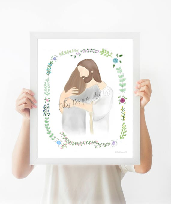 Loss of Loved One, Loss of Mother, Christ, Christian Art, Christian, Heaven, Funeral Art, Funeral Gift, Funeral service, LDS Art, Grieving