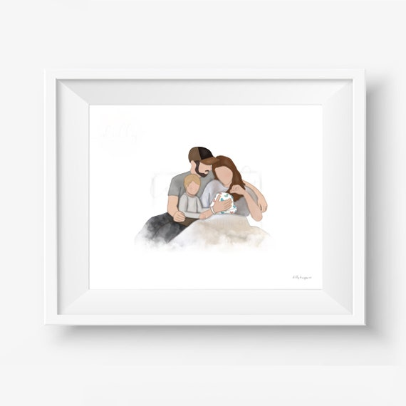 Grieving Parents, Hospital Couple, Infant Loss, Sympathy Gift, Condolence Gift, Bereavement Gift, Grief Gift, Gift For Parents, Sympathy Art